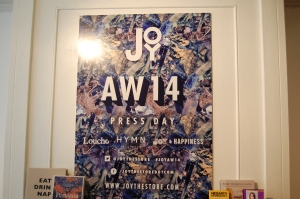 JOY AW14 Press Event